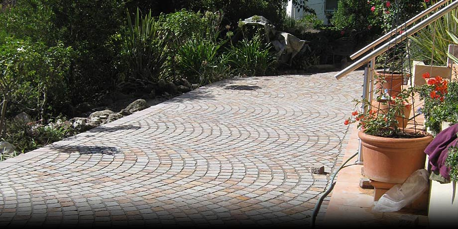 Completed porphyry driveway and landscaping project , Mornington Peninsula